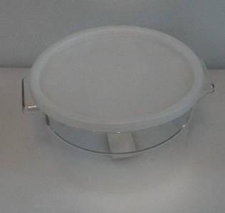 Контейнер поликарбонатный круглый для хранения с крышкой V 2000 мл (шт)