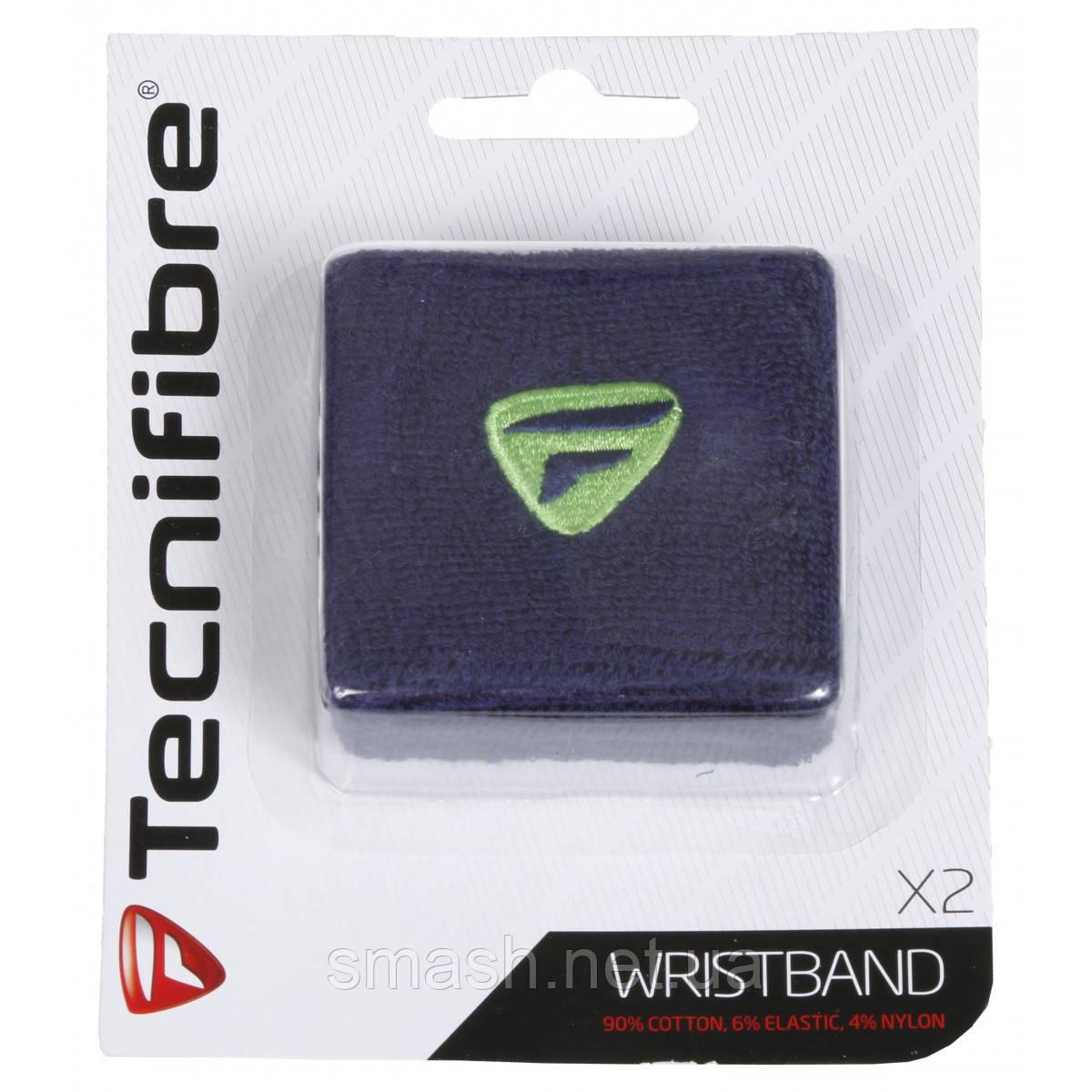 Напульсник Tecnifibre Wristband navy X2