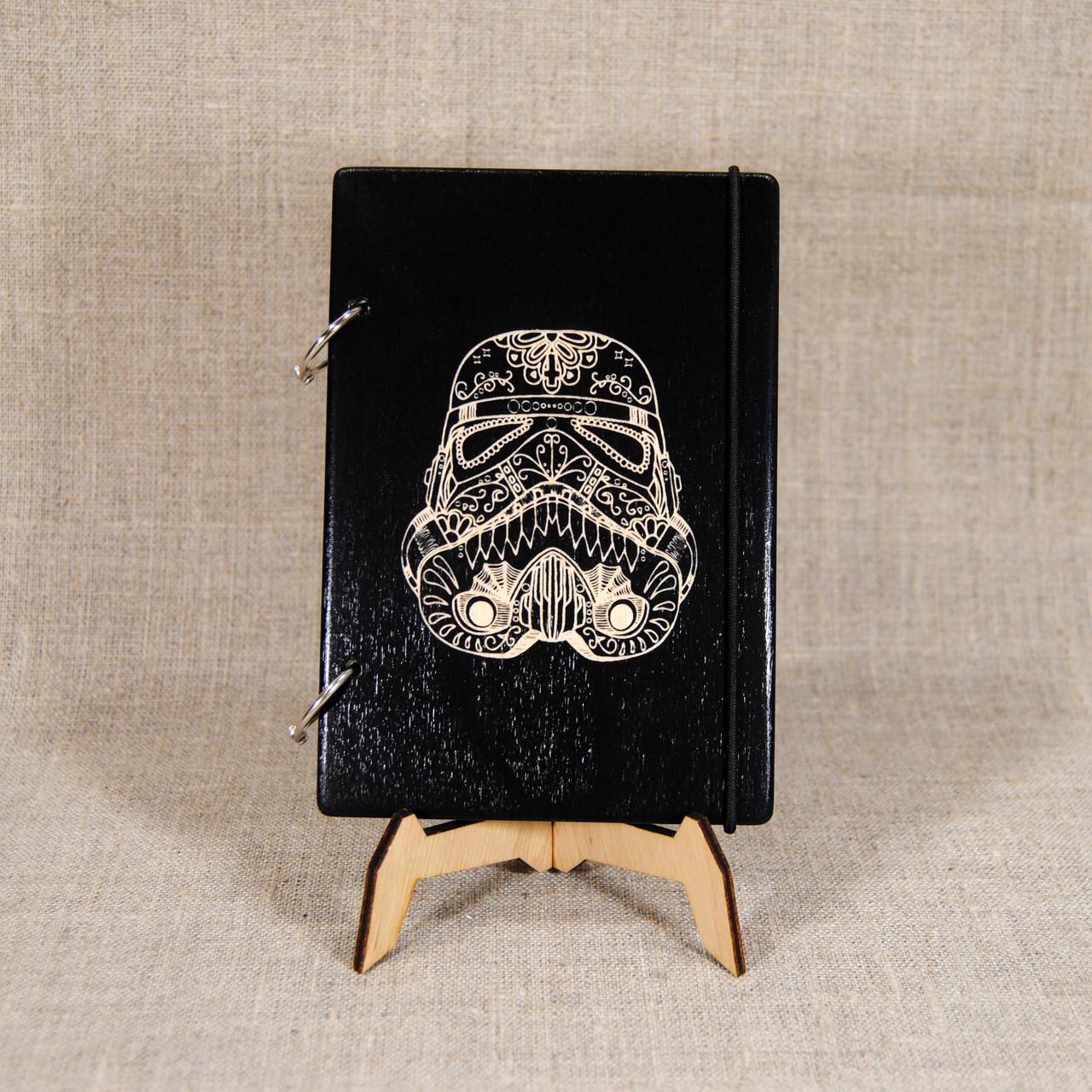 Блокнот А5. Скетчбук с деревянной обложкой. Блокнот в деревянном переплете. Деревянный блокнот