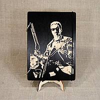Скетчбук Terminator. Блокнот с деревянной обложкой Терминатор., фото 1