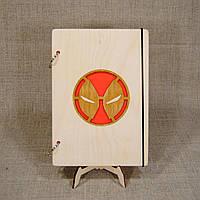 Скетчбук A5 Deadpool. Блокнот с деревянной обложкой МАРВЕЛ., фото 1