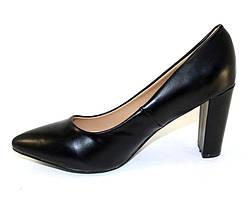 Женские туфли на каблуке из эко кожи