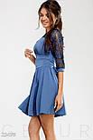 Синее платье с гипровыми рукавом 3/4, фото 2
