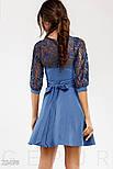Синее платье с гипровыми рукавом 3/4, фото 3