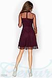 Бордовое платье с контрастным воротником, фото 3