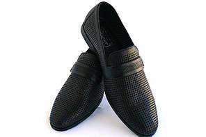 Туфли мужские кожаные «Классика» CEVIVO (лето на резинке) 1