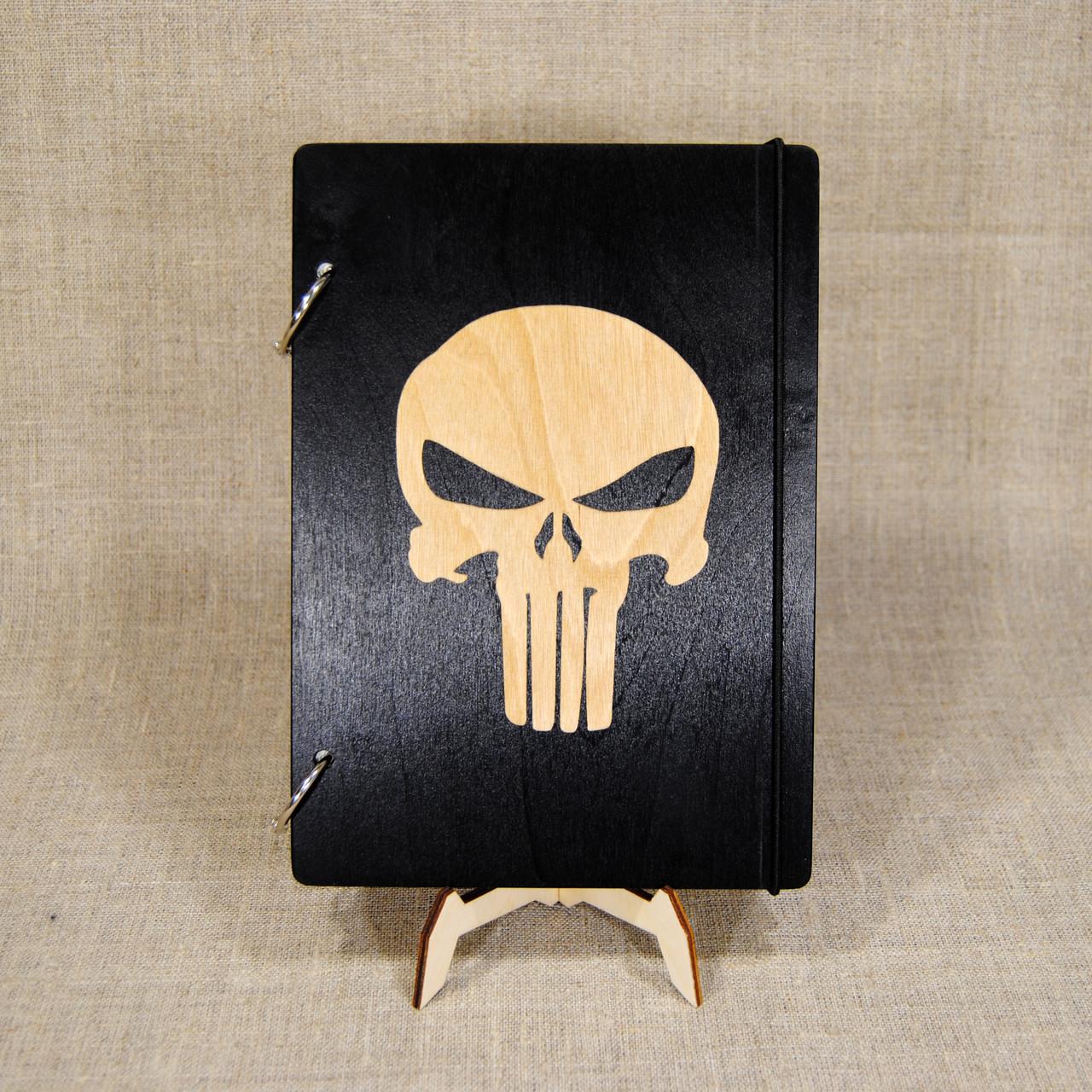 Скетчбук Черп. Блокнот с деревянной обложкой.