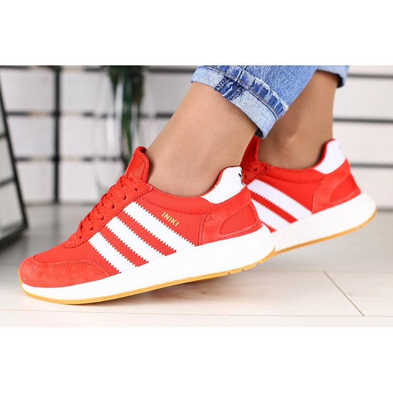 9f572016 Женские кроссовки Adidas Iniki Runner красные р.36 Акция -47%!, цена ...