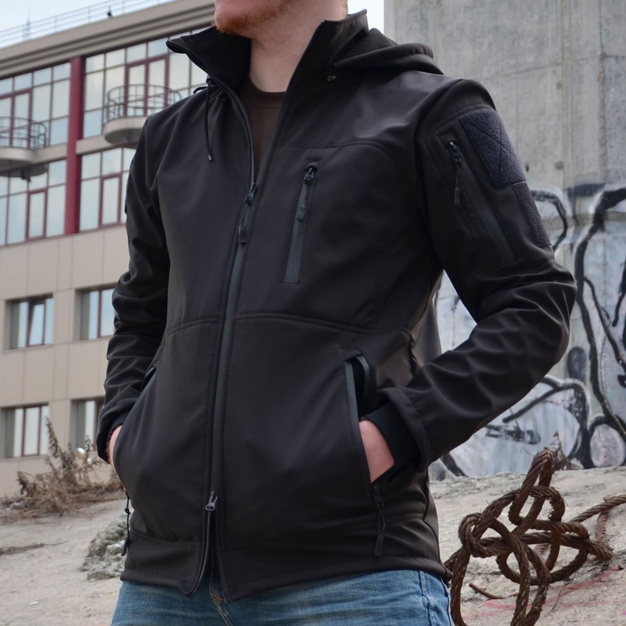 Куртка Softshell (софтшелл) GROM Black