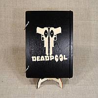 Скетчбук Deadpool. Блокнот с деревянной обложкой Дедпул, фото 1