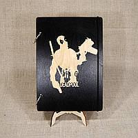 Блокнот (скетчбук) А5 (14,5 х 20,6 см) Дэдпул МАРВЕЛ Deadpool. Деревянная обложка, сменная бумага., фото 1