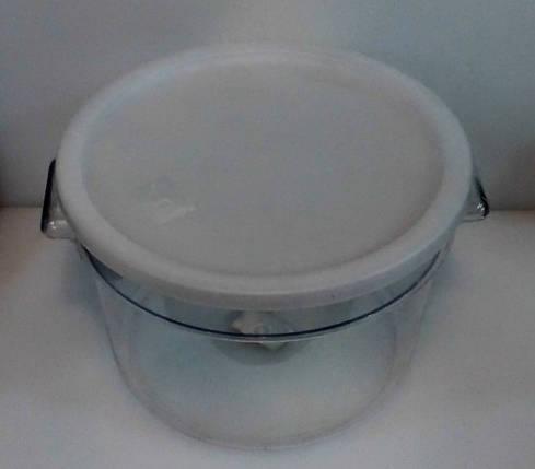 Контейнер поликарбонатный круглый для хранения с крышкой V 12000 мл (шт), фото 2