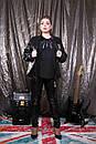 Женская кожаная стеганная куртка бомбер в больших размерах 10ba1482, фото 4