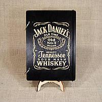 Скетчбук Jack Daniel's. Блокнот с деревянной обложкой.