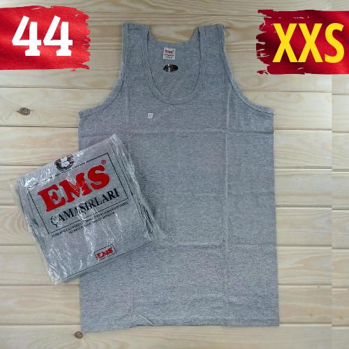 Майка мужская хлопок 100% EMS Турция размер XXS-44 серая  однотонная без надписей ММ-2529