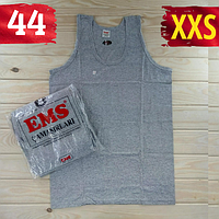 Майка мужская хлопок 100% EMS Турция размер XXS-44 серая  однотонная без надписей ММ-2529, фото 1