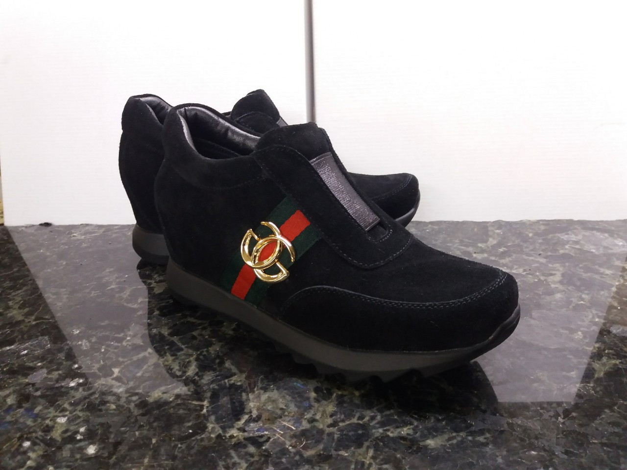 70b5217c Женские стильные модные кожаные ботинки, сникерсы ,натуральная замша ...