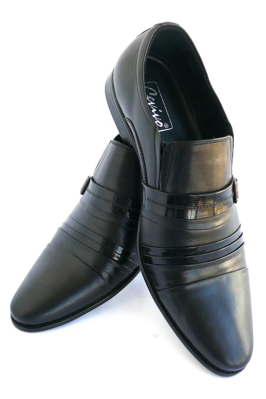 Туфли мужские кожаные «Классика» CEVIVO (лето на резинке)