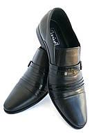 Туфли мужские кожаные «Классика» CEVIVO (лето на резинке), фото 1