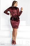 Бархатного платье большого размера с баской, фото 3