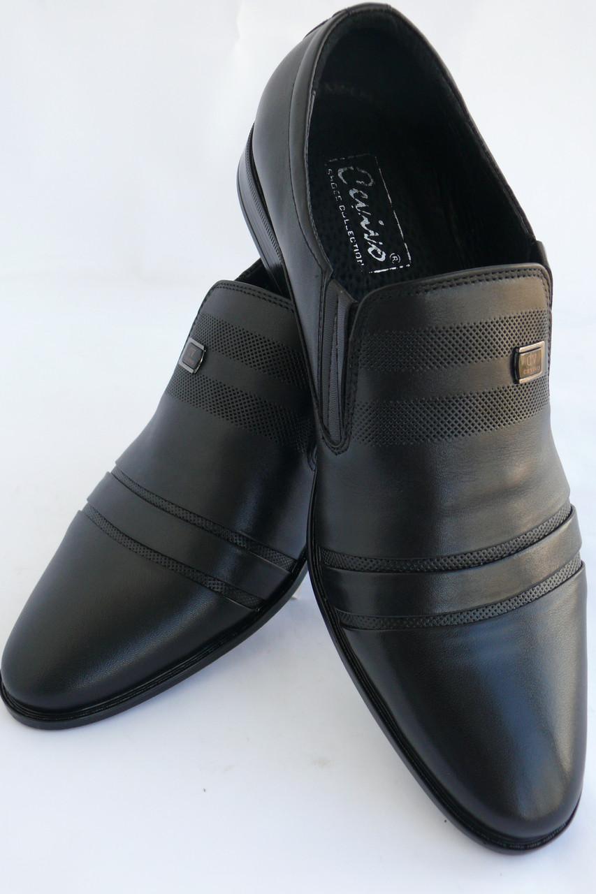 Туфлі чоловічі шкіряні «Класика» CEVIVO (літо на резинці) 3