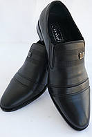 Туфли мужские кожаные «Классика» CEVIVO (лето на резинке) 3