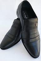 Туфли мужские кожаные «Классика» CEVIVO (лето на резинке) 3, фото 1