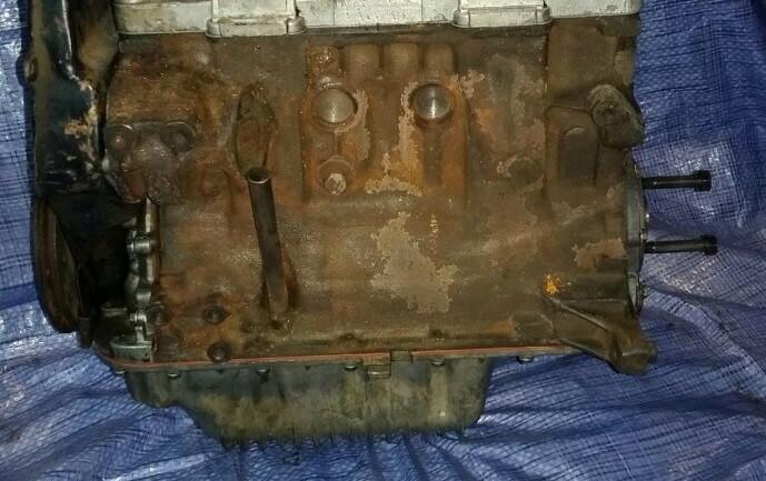 Двигун без ГБЦ 1.1 ЗАЗ 1102 1103 1105 11055 низ мотора 1100 блок циліндрів у зборі бу
