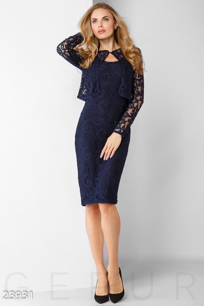 e5efb1ff8a0 Гипюровое Платье-футляр с Прозрачной Болеро — в Категории
