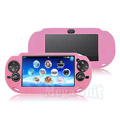 Силиконовый чехол для Sony PS Vita 1000  Розовый