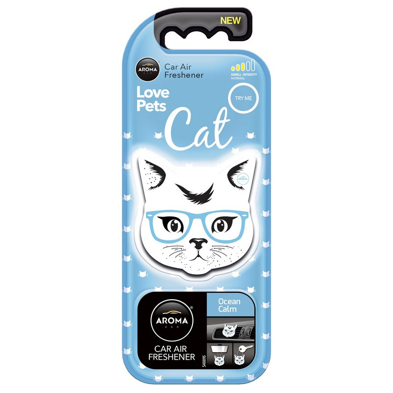Ароматизатор Aroma Car Polimers Cat Ocean Calm Океанский бриз