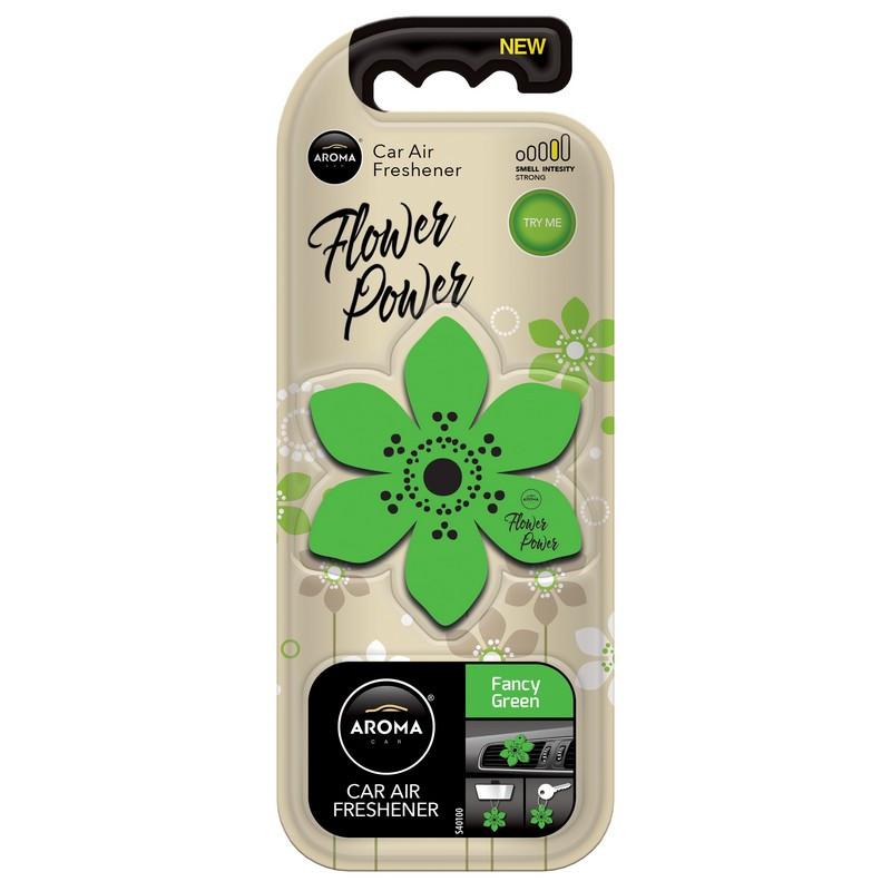 Ароматизатор Aroma Car Polimers Flower Fancy Green Причудливый зеленый