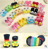 Яркие носочки пинетки для малышей с антискользящей защитой