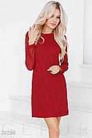 Прямое платье с вырезом на спине красное