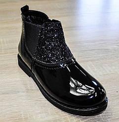 Ботинки демисезонные черного цвета с декоративными элементами для девочки, Bistfor