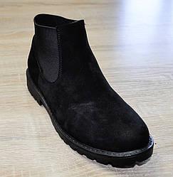 Ботинки подростковые черного цвета на резинке для девочки, Bistfor