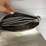 Стильная серебристая сумка - клатч, фото 5