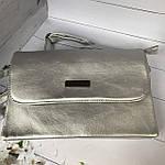 Стильная серебристая сумка - клатч, фото 8