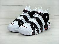 Кроссовки Nike Uptempo реплика ААА+ (нат. замша) размер 36-45 белый (живые фото), фото 1
