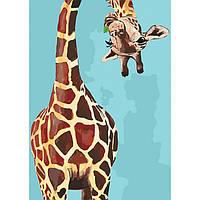 "Набір для розпису по номерах. Тварини, птахи ""Веселий жираф"" 35*50см, Сложность 3"