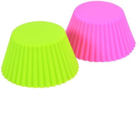 Силиконовая форма для кексов Маффины 60 мм Н 25 мм (набор 6 шт), фото 2