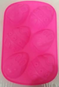 Силиконовая форма для выпечки Пасхальные яйца 265*175*30 мм (шт), фото 2
