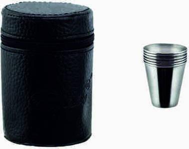 Рюмки металлические в чехле  (наб=6шт)