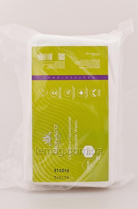 Monaco Style Салфетки косметологические 20х20 см спанлейс, ГЛАДКИЕ, 100 шт.