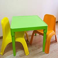 Набор детской пластиковой мебели - стол и 2 стула. (САЛАТОВЫЙ СТОЛ) Украина