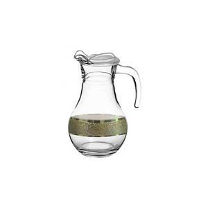 Кувшин 1л Золотой карат Гусь хрустальный KAV22-3944