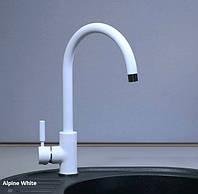 Смеситель для кухни Fabiano FKM 36 Alpine White (белый)