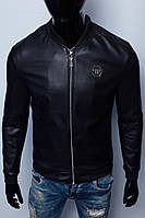 Куртка мужская кожзам Phillipp Plein Hvz 15785 реплика