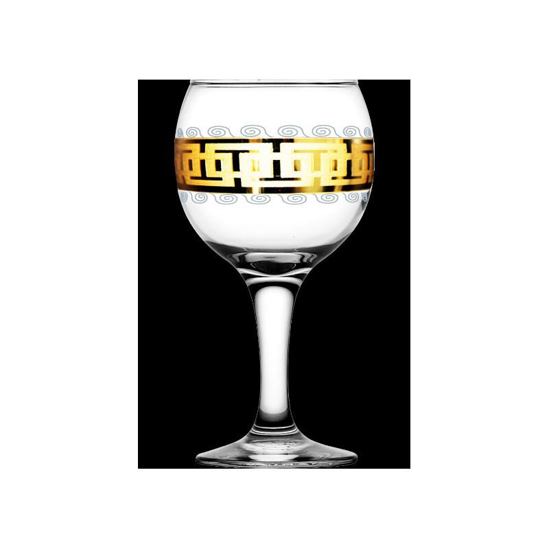 Бокалы для вина 260мл / 6шт (Бистро) декор Меандр