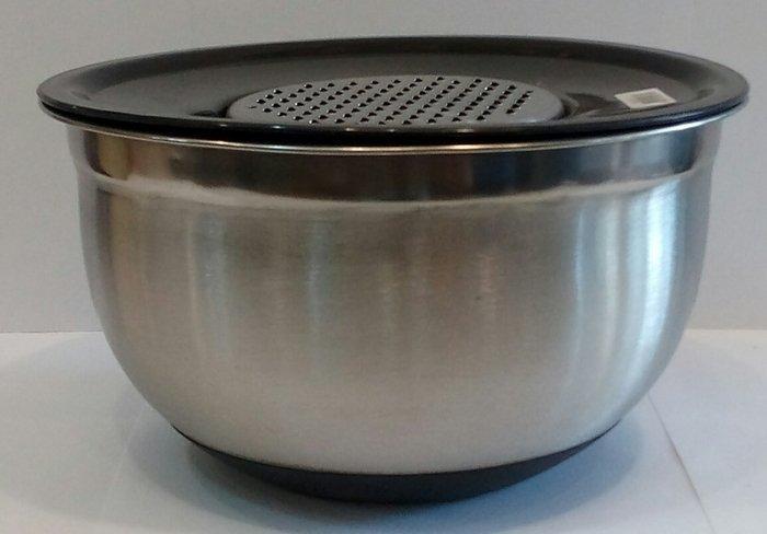 Терка с миска нержавеющая круглая V 2500 мл Ø 215 мм ( шт )